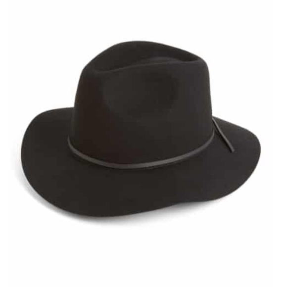 6599ee9a0 All Saints Boho Black Wool Fedora Hat